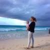 Mother & daughter in Barbados